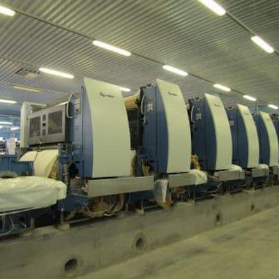 New high tech printing machine is being installed in PECHATNYA printing house