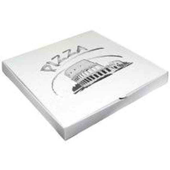 Sample packaging for pizza